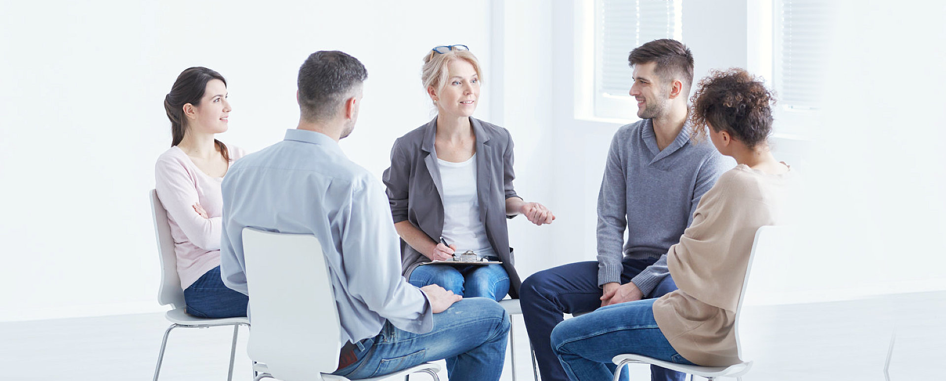 group of people doing counseling